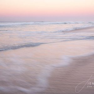 Seascape at sunset Pink