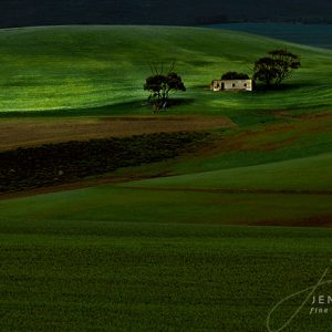 Green rolling hills landscape South Africa