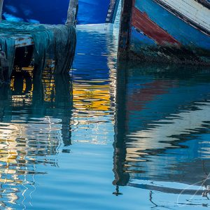 Boat and Harbour Water Reflections